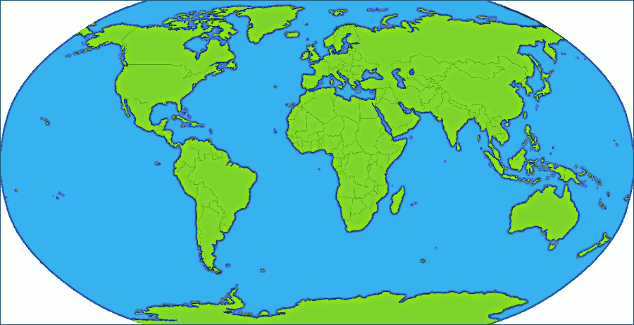 Map clipart world map #1