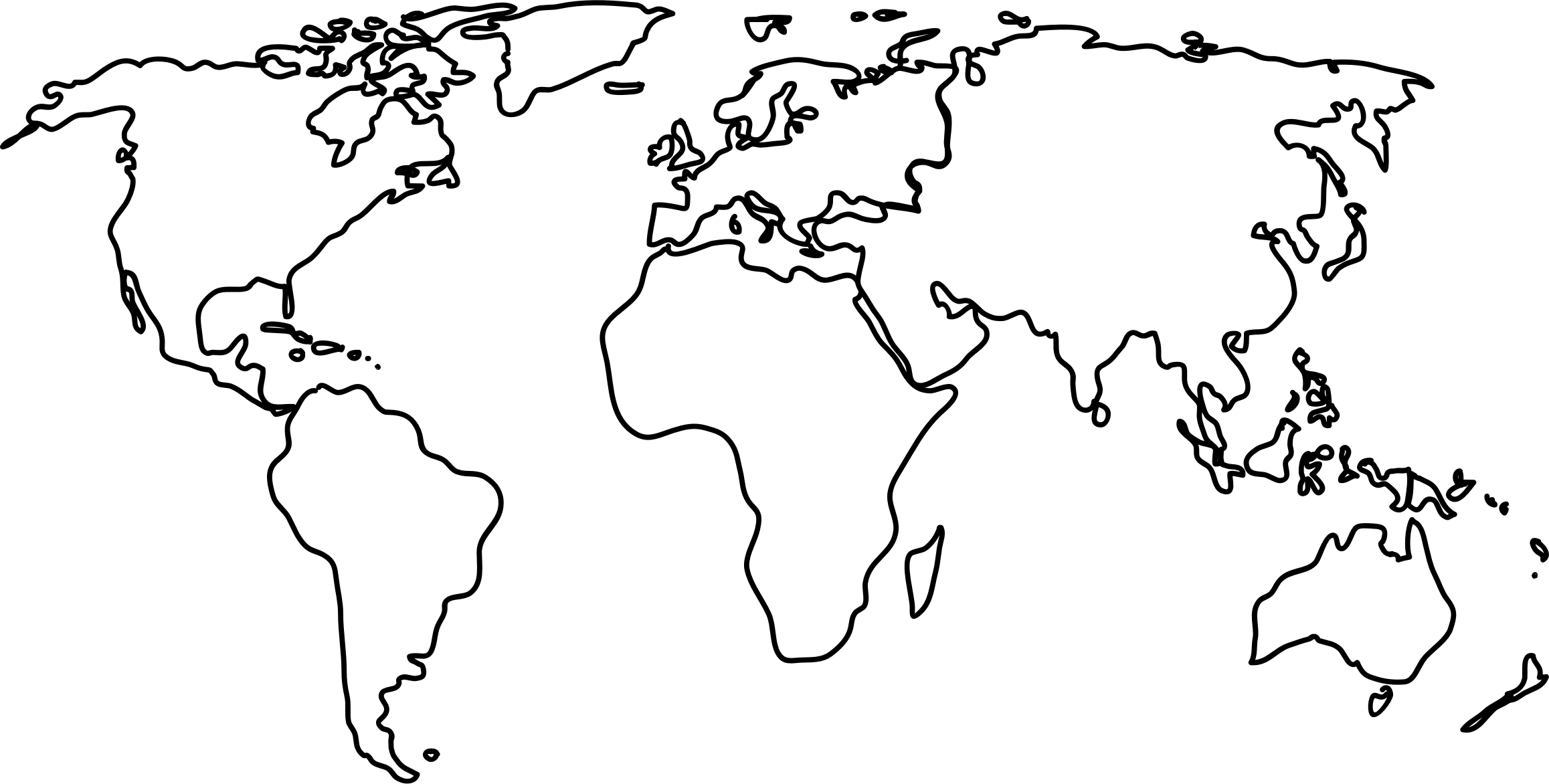 World Map Clip Art 15