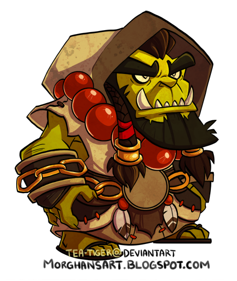did this a while ago and never posted it. Chibi Thrall from World of  Warcraft