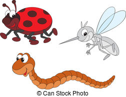 . ClipartLook.com mosquito and worm - Vector clip-arts of funny.