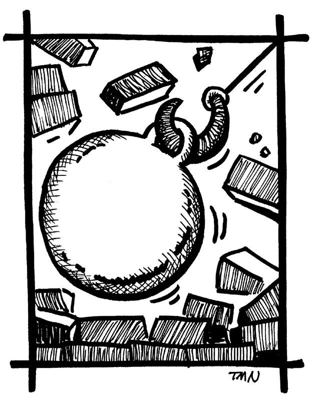 Wrecking Ball Crane Clip Arta. Random. Heavy Duty Wrecker Trucks Clipart. Cartoon Houses Image