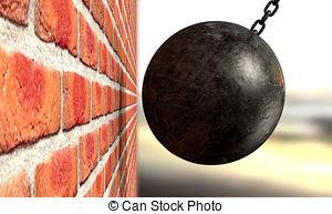 ... Wrecking Ball Hitting Wall - A regular metal wrecking ball... Wrecking Ball Hitting Wall Clipartby ...