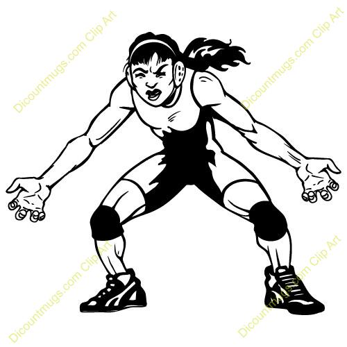 Wrestling Champion Clipart Clipart 14456 Womanwrestler
