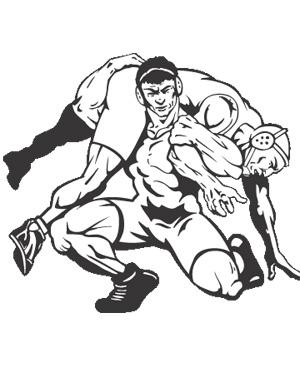 Wrestling coach clipart