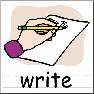 Clip Art: Basic Words: Write Color Labeled I abcteach hdclipartall.com - preview 1