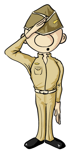 Writing Soldier Clipart