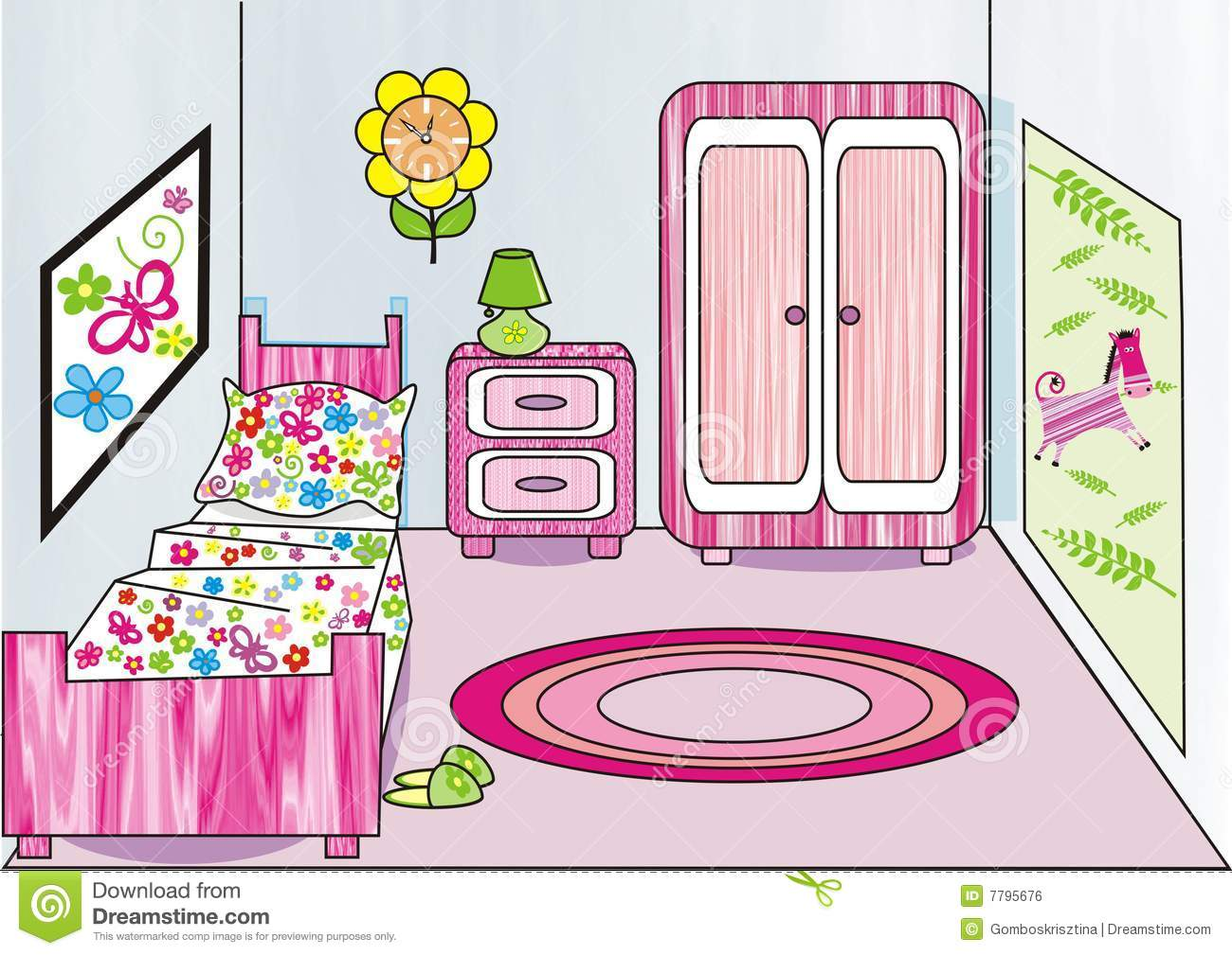 Www Dreamstime Com Royalty Free Stock Image Girl S Room Image7795676