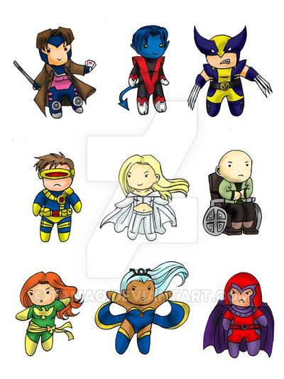 X-Men Chibi Set by Tamao hdclipartall.com