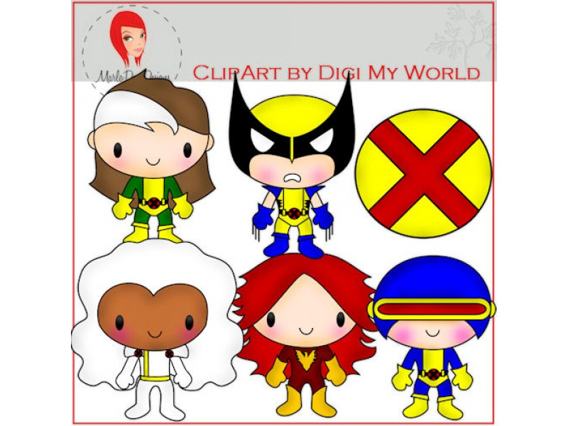 X Men Women Clipart #1