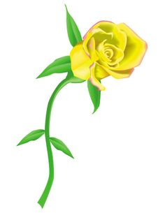 yellow rose border clip art