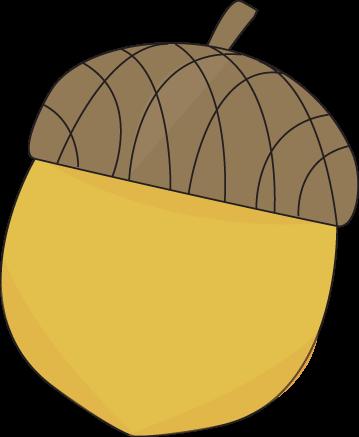 Yellow Acorn Clip Art Image Yellow Autumn Acorn With A Brown Cap