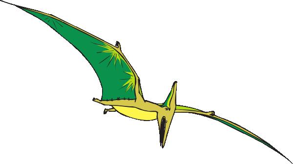 Yellow And Green Pterodactyl Clip Art At Clker Com Vector Clip Art