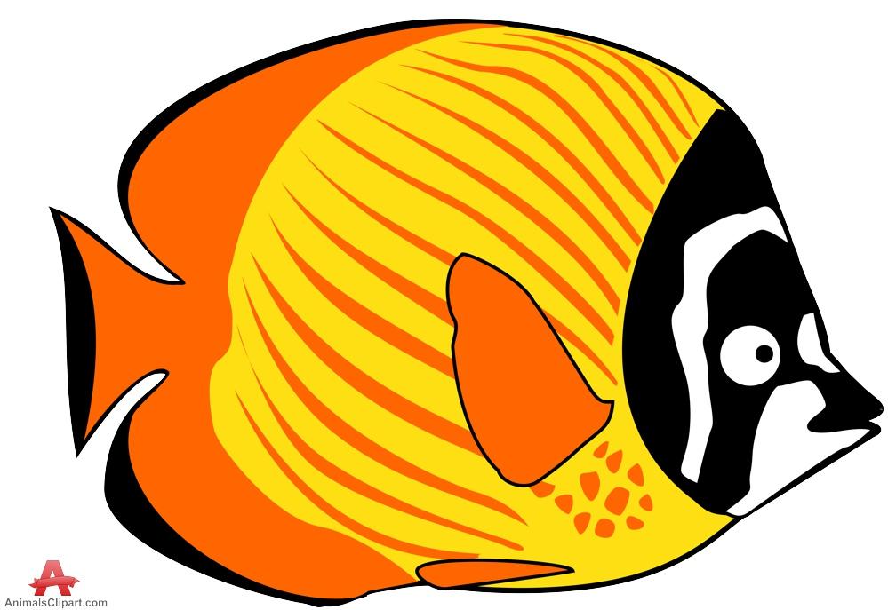 Yellow Fish Clipart Design .