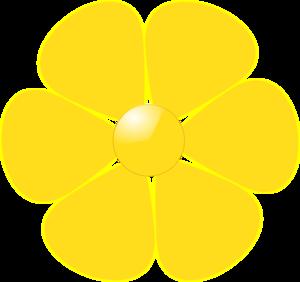 Yellow Flower Clip Art At Clker Com Vector Clip Art Online Royalty
