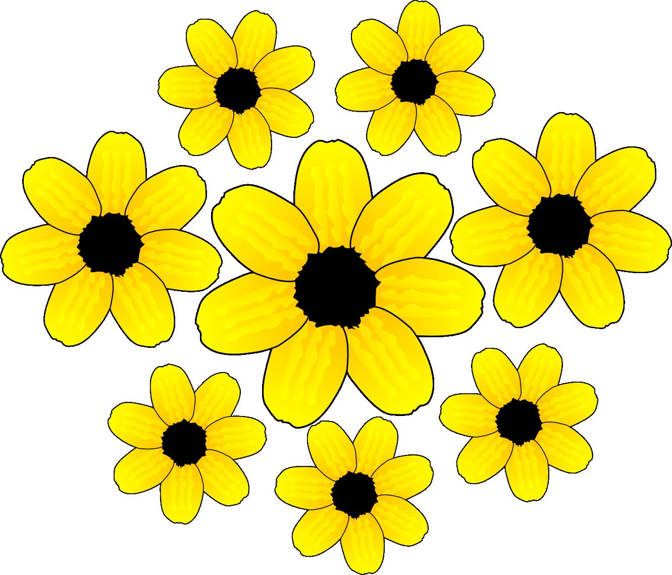 Yellow Flower Clip Art - ClipArt Best   clip art...gmk   Pinterest   The 3, Graphics and Changu0026#39;e 3