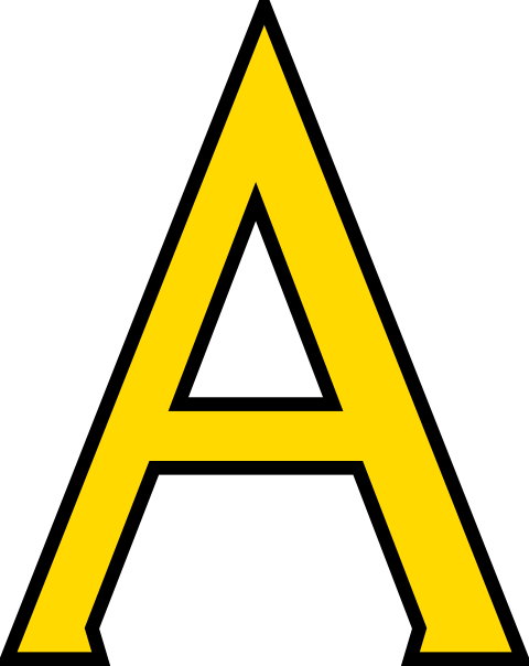 Yellow Letter A Clipart