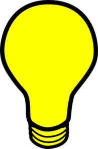 Yellow Light Bulb Clip Art