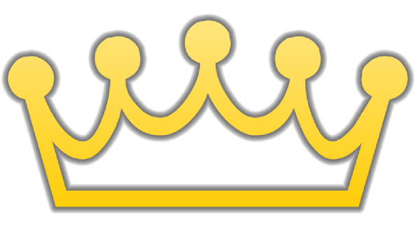 Yellow Outline Crown Clipart
