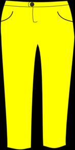 Yellow Pants Clipart #1