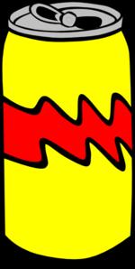 Yellow Pop Can Clip Art At Clker Com Vector Clip Art Online Royalty