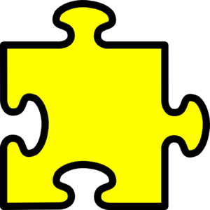 Yellow puzzle piece clip art .