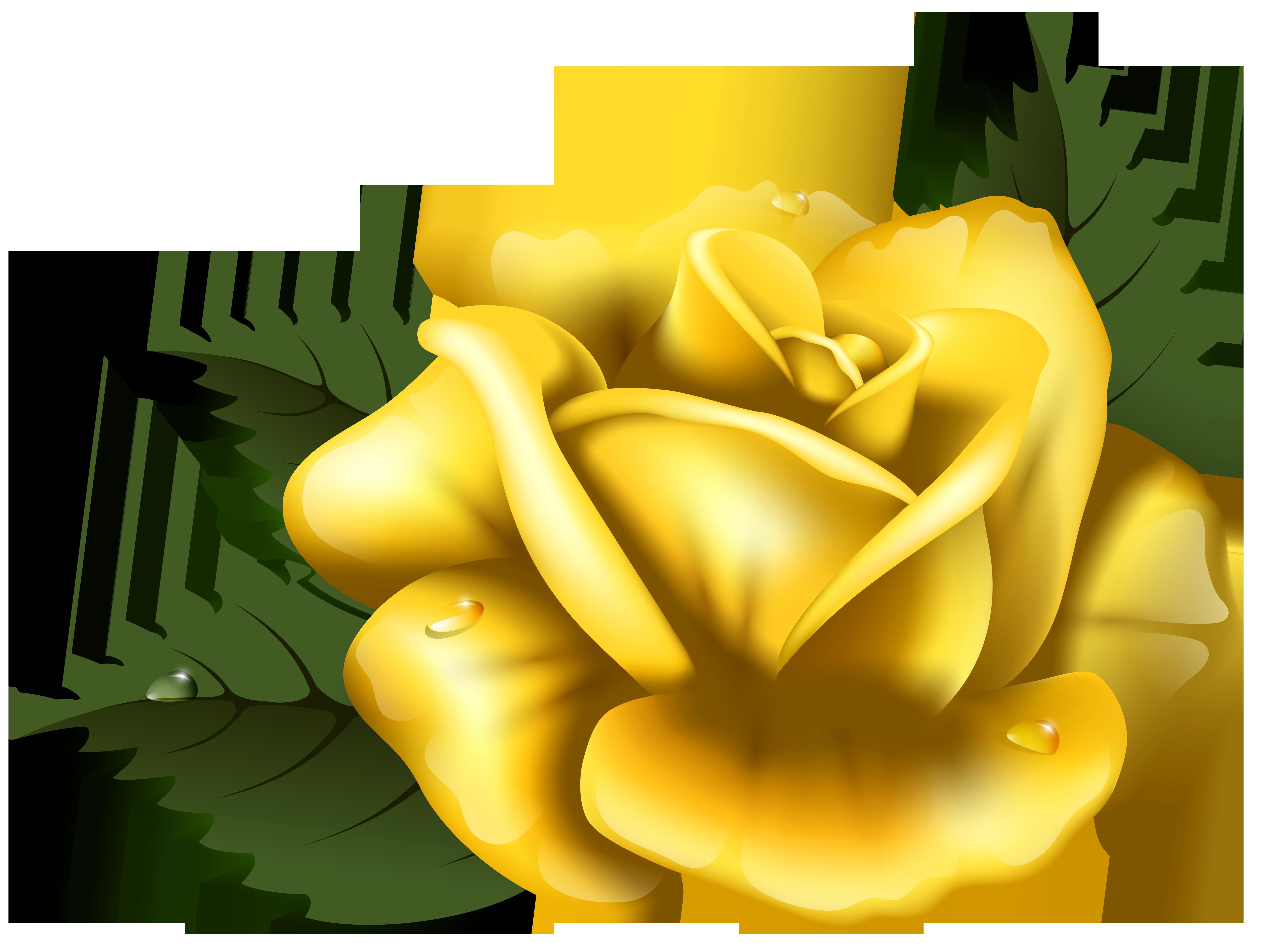 ... Yellow Rose Clip Art - clipartall ...