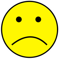 Yellow sad face clipart