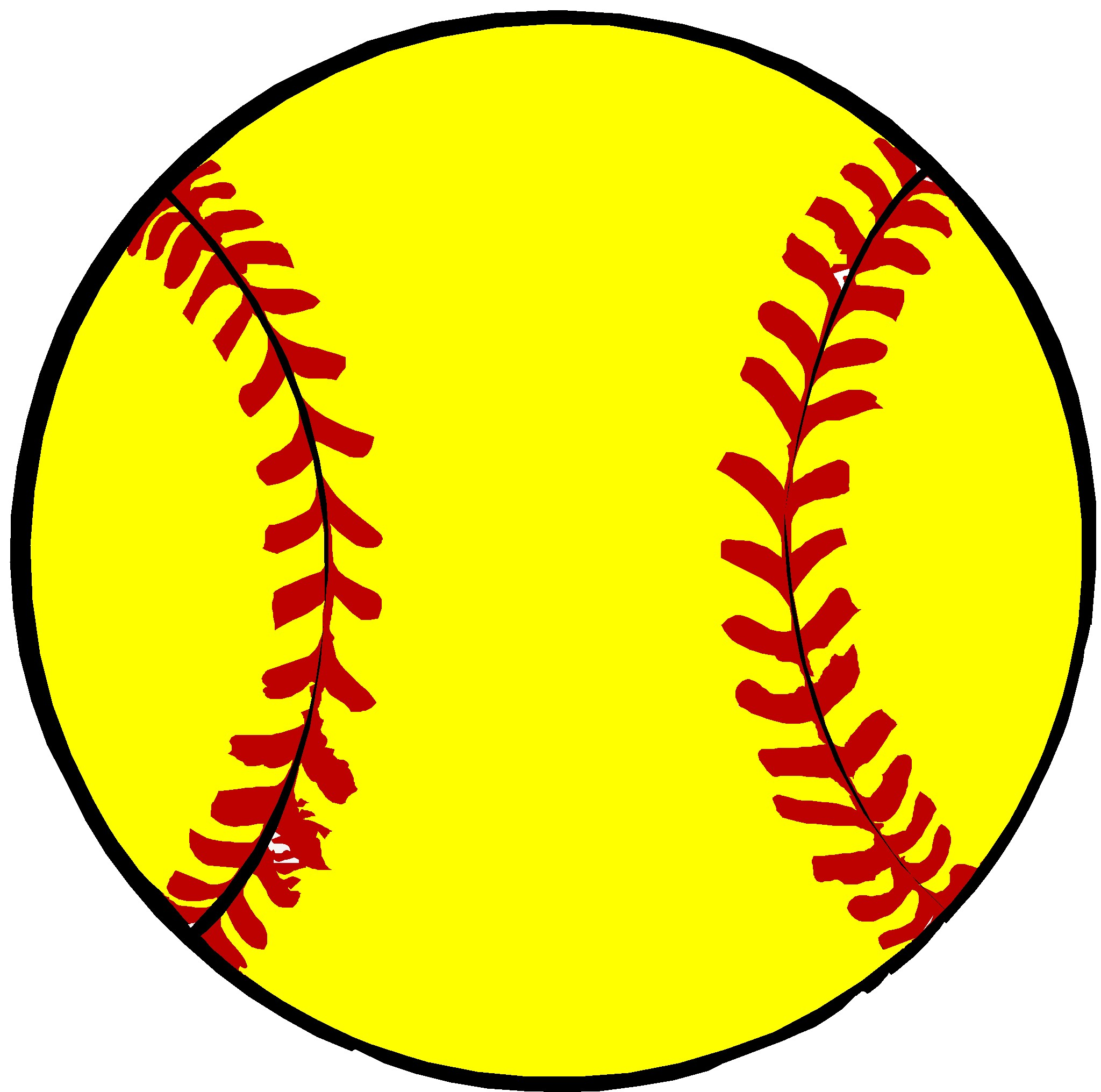 Yellow Softball Clip Art ..