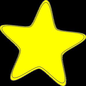 Yellow Star 2 Clip Art At Clker Com Vector Clip Art Online Royalty
