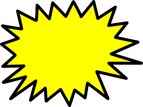 Yellow Star Burst Clip Art At Clker Com Vector Clip Art Online