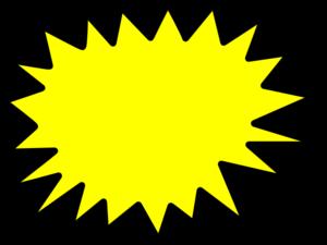 Yellow Star Burst Clip Art