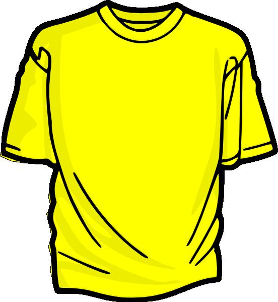 Yellow T Shirt Clip Art At Clker Com Vector Clip Art Online Royalty