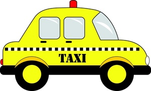 Yellow Taxi Clipart #1