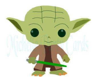 Yoda Star Wars Clipart-Illustration