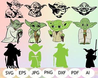 Yoda SVG, Star Wars SVG, Yoda Cut Files, Yoda Clipart, Silhouette Cameo,  Cricut, Instant Yoda Clipart