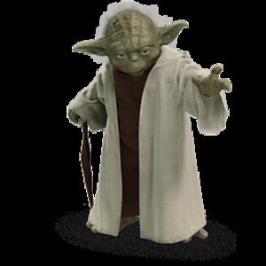 Yoda image - vector clip art .