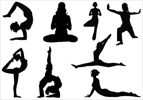 Yoga Clip Art Pack Silhouette Clip Artsilhouette Clip Art