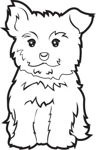 Yorkie Puppy Black Clipart