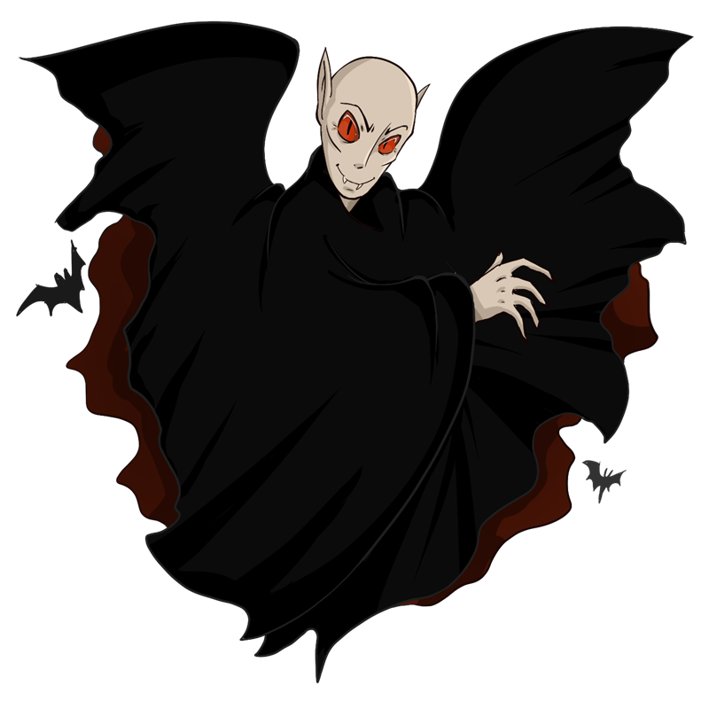 You can use this evil looking Count Dracula clip art on your Halloween projects, videos, game projects, websites and blogs, book illustrations, etc.