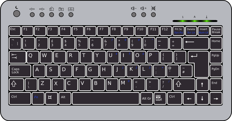 You can use this keyboard clip art for personal or commercial use. You can add this clip art on your computer projects, school reports, presentation, ...