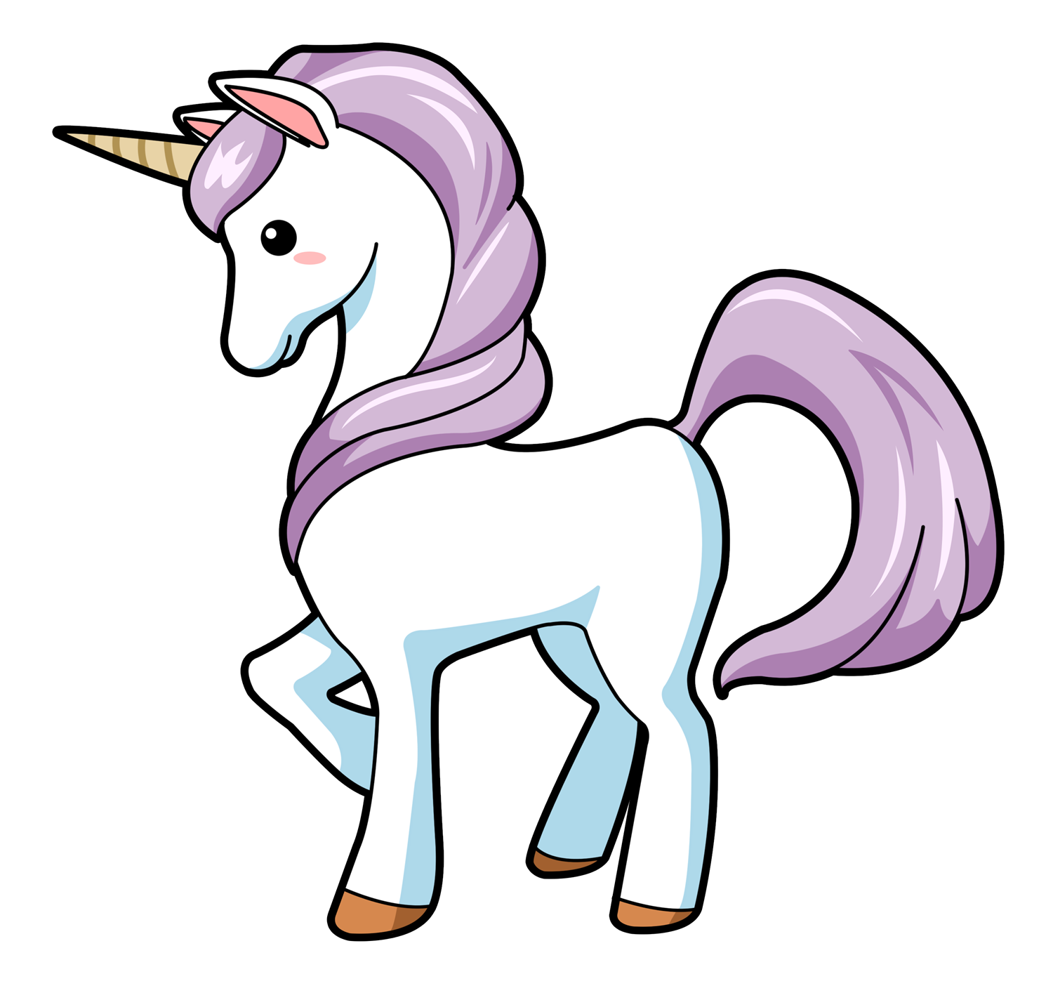 You can use this lovely cartoon unicorn clip art on your personal or commercial projects. Add life to your fantasy projects, storybook illustrations, ...