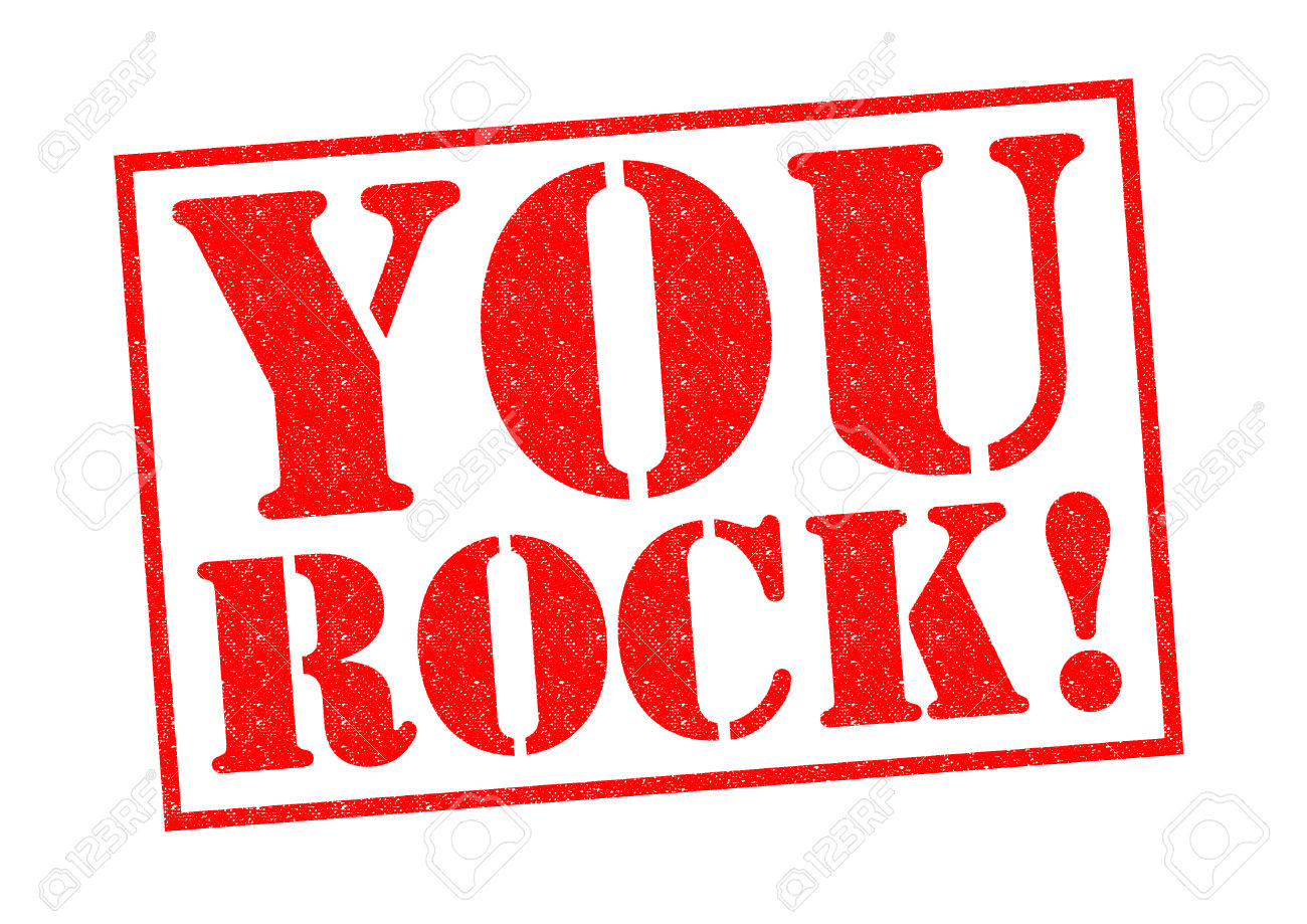 YOU ROCK! red Rubber Stamp over a white background. Stock Photo - 27416503