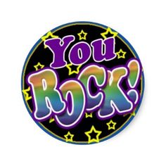 you rock | You Rock! Sticker