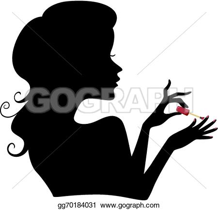 Young lady doing manicure in beauty salon u0026middot; Manicure Girl Silhouette