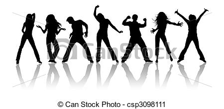 ... Youth - Black silhouettes, youth on a white background Youth Clipartby ...