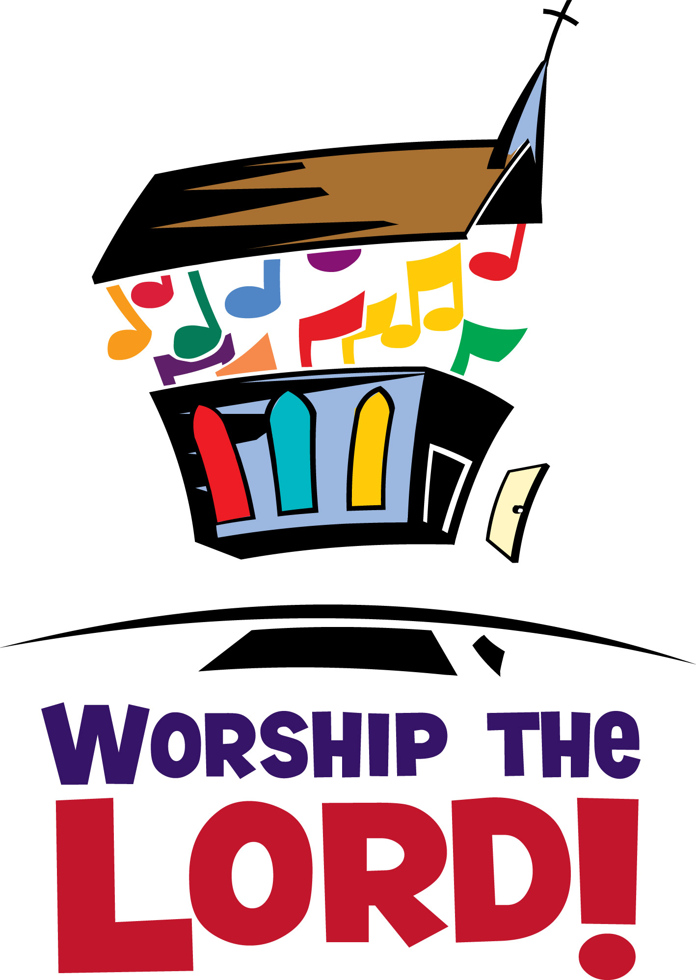 Youth Worship Service Clipart .