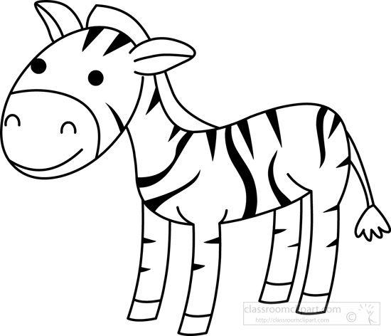 zebra-black-white-outline .