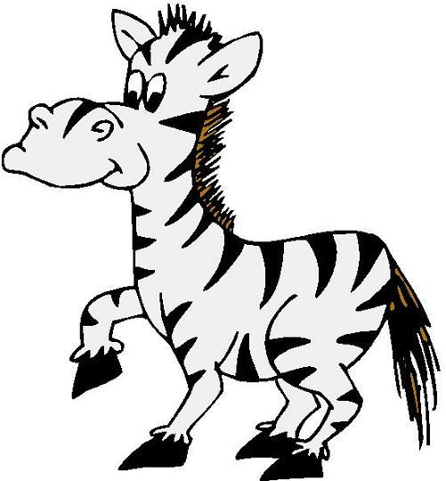 Zebra Clip Art Black And White .