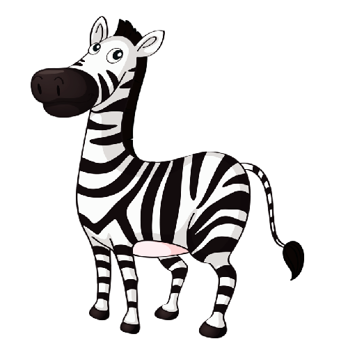 Cute baby zebra zebra cartoon - Zebra Clipart