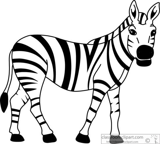 Zebra Clipart Black And White - Zebra Clipart
